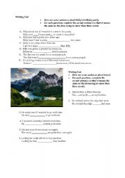 English Worksheets: writing part