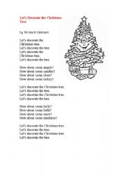 Christmas Rap.Let S Decorate The Christmas Tree Esl Worksheet By Maria