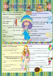 English Worksheets: Expressing ability II