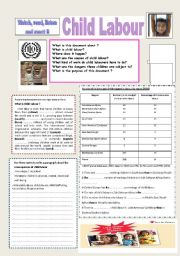 English Worksheet: child labour