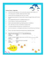 Grammar Practice - Conjunctions
