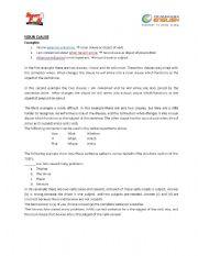 English Worksheet: noun clause