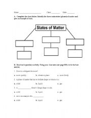 Worksheets States Of Matter Worksheet english teaching worksheets states of matter matter