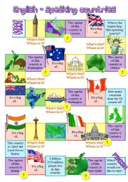 English-speaking countries board game 2