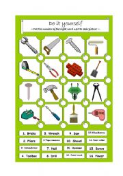 Do it yourself - word matching worksheet