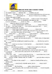 VERB TENSE - ESL worksheet by barbarabs