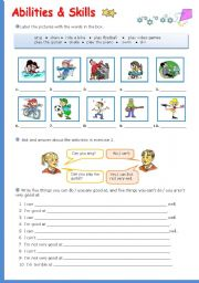 English Worksheets: Abilities and Skills