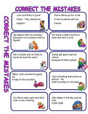 English Worksheets: CORRECT THE MISTAKE