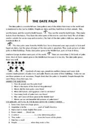 English Worksheets: THE DATE PALM