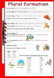 English Worksheets: plural formation