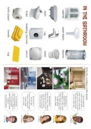 English Worksheet: HOUSE - In the bathroom - 4/5