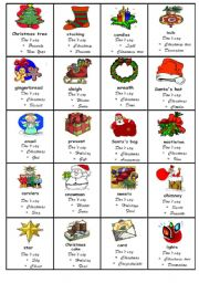 Taboo game Christmas - ESL worksheet by nadiasapko1988