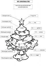 Christmas and possessive adjectives