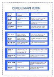 PERFECT MODAL VERBS