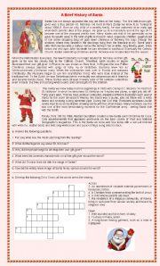 English Worksheet: A Brief History of  Santa
