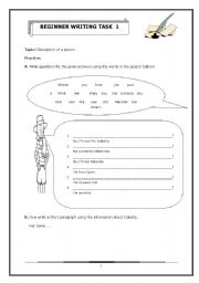 English Worksheets: Description of a person