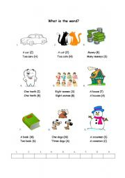 English Worksheets: What is the word