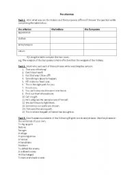 English Worksheet: Pocahontas movie