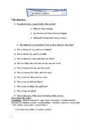 English Worksheet: modern family episode one