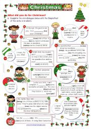 English Worksheets: What did you do for Christmas?