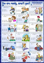 English Worksheets: You are ready, aren�t you?