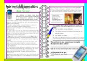 English Worksheet: Mobile phone addicts