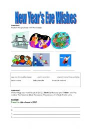 English Worksheet: New Year�s Eve Wishes