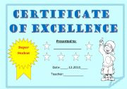 English Worksheets: CERTIFICATE FOR KIDS