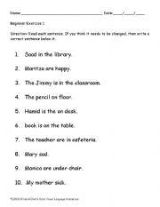 English Worksheets: Editing 1