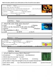 English Worksheets: movie trailers