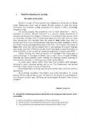 English Worksheet: Written Test - Addictions