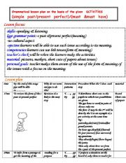 English Worksheet: lesson plans