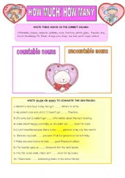 English Worksheets: HOW MUCH/ HOW MANY