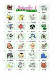 Pictionary***Animals 1