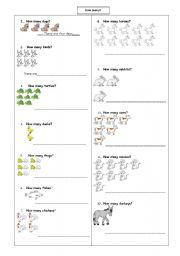 English Worksheets: How many ?