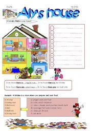 English Worksheets: ALY�S HOUSE