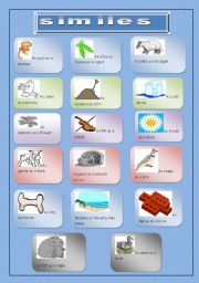 English Worksheets: Similes
