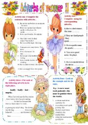 English Worksheet: Adverbs of manner part II