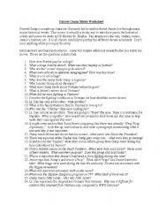 English Worksheets: Forrest Gump Movie Worksheet