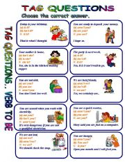 English Worksheet: TAG QUESTIONS WITH VERB TO BE