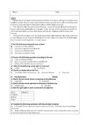 English worksheet: ancient manners