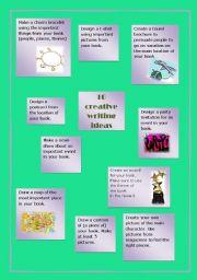English Worksheets: 10 Creative Writing Ideas