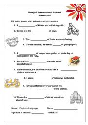 Printables Collective Nouns Worksheets For Grade 2 english teaching worksheets collective nouns nouns