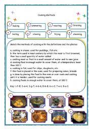 English Worksheet: Cooking Methods