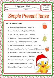 English Worksheet: present simple tense