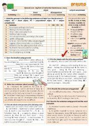 English Worksheet: GERUND: Introduction + exercises
