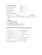 English Worksheets: Writing Exam