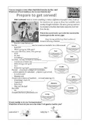 English teaching worksheets: Cloudy With a Chance of Meatballs