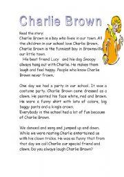 English Worksheet: Charlie Brown