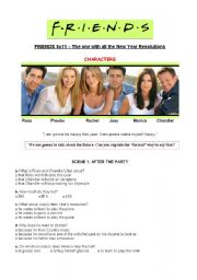 English Worksheet: Friends 5x11 New Year�s Resolutions